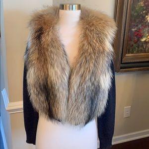 Gorgeous Haute Hippie sweater with raccoon fur